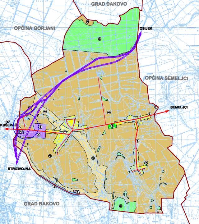 Prostorni plan uređenja Općine Viškovci II. izmjene i dopune - 1 Koristenje i namjena povrsina